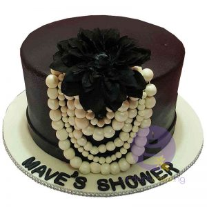 Monochrome Bridal Shower Cake