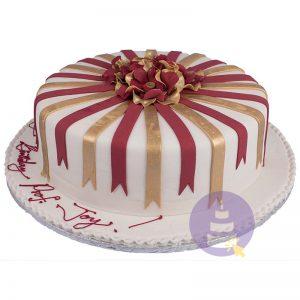 Ribbon Fiesta Cake
