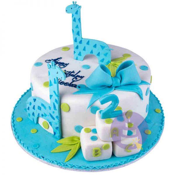 Giraffe Guards Cake