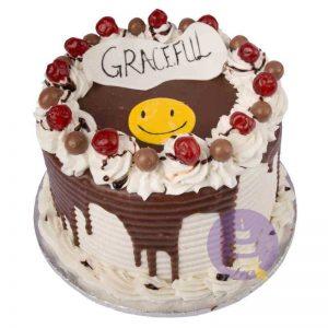 Smiley Face Buttercream Cake