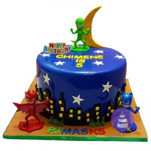 Midnight Blue PJ Masks Fondant Cake