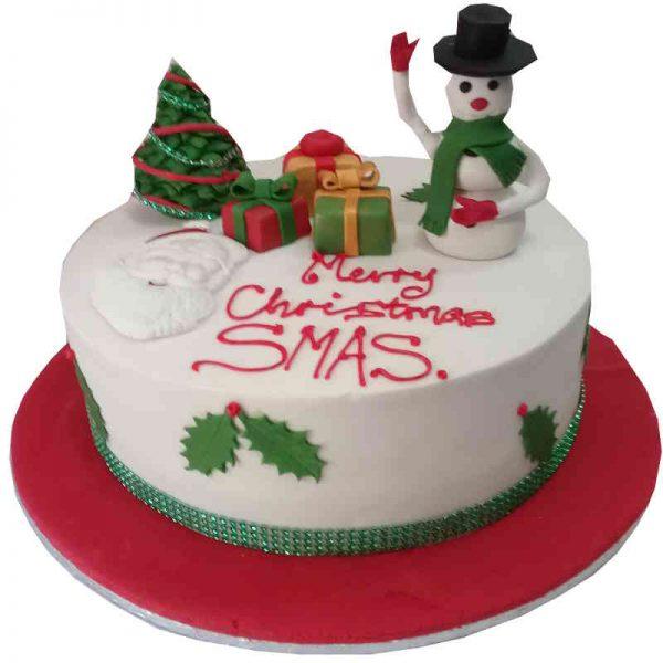 Buttercream Christmas Cake