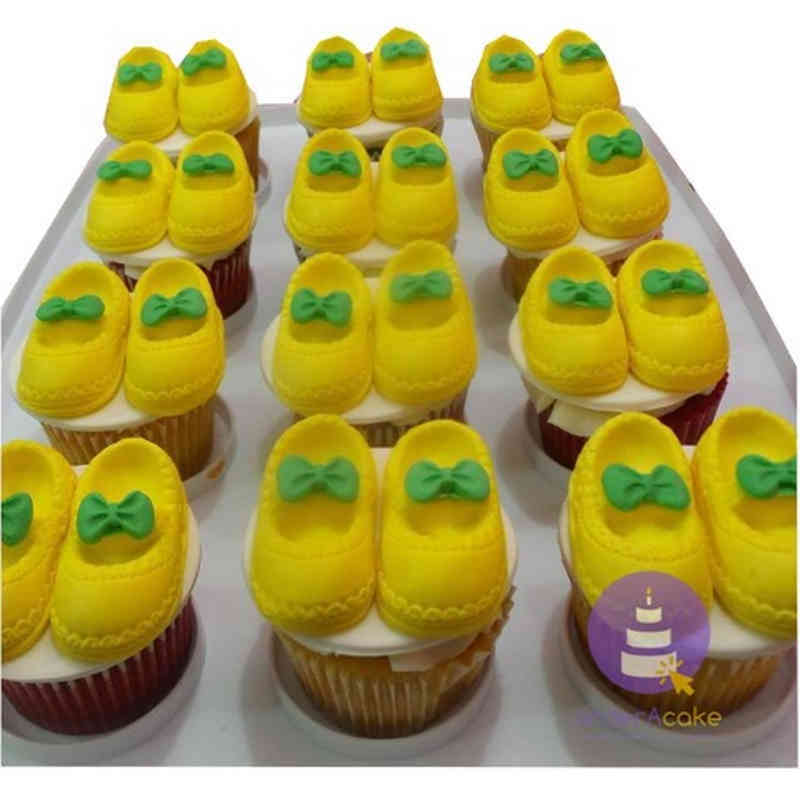 Baby Boots Cupcakes