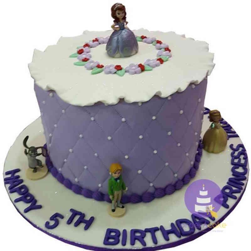 Princess Sofia Simple Cake