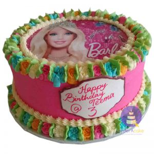 Barbie Buttercream Cake