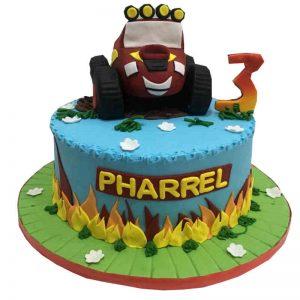Blaze Car Cake