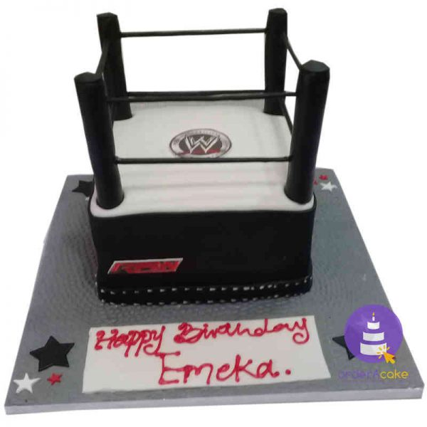 Boxing Ring Fondant Cake