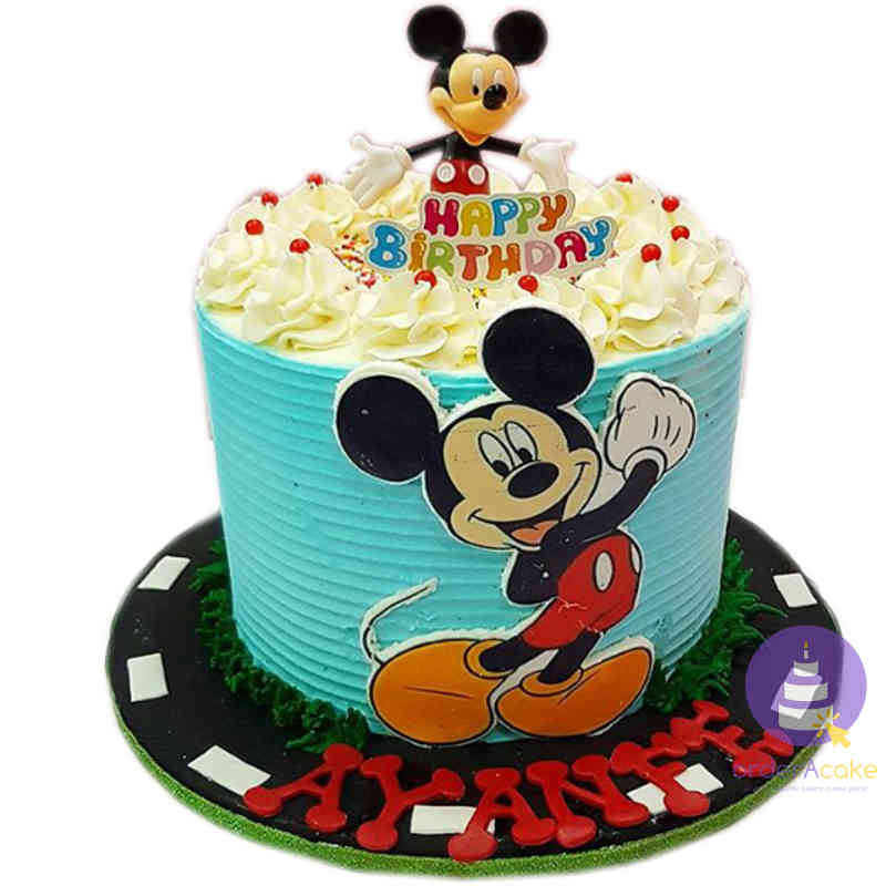 Happy Mickey Mouse Cake