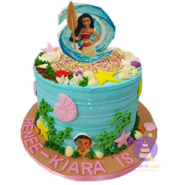 Moana Buttercream Cake