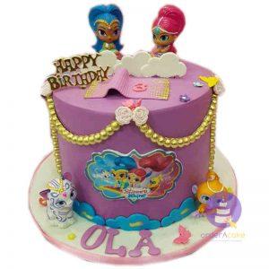 Shimmer & Shine Fondant Cake