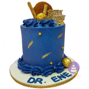 Blue Luxury Buttercream Cake