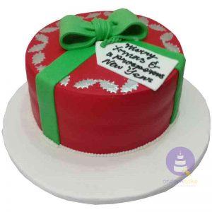 Gift Bow Christmas Cake