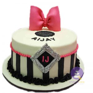 Pink Monochrome Fondant Cake