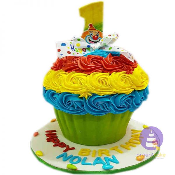 Clown Giant Cupcake