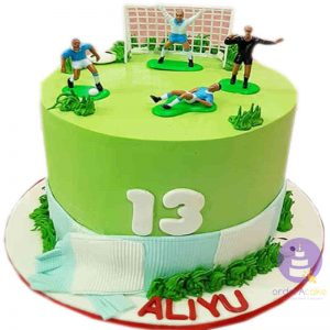 Football Buttercream Cake