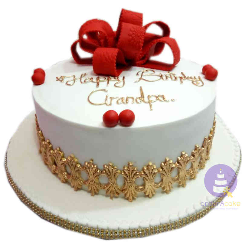 Groovy Birthday Cakes In Abuja Golden Trim Fondant Cake Orderacake Ng Birthday Cards Printable Riciscafe Filternl