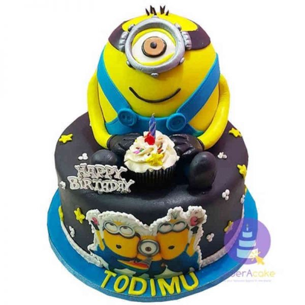 One-Eyed Minion Cake