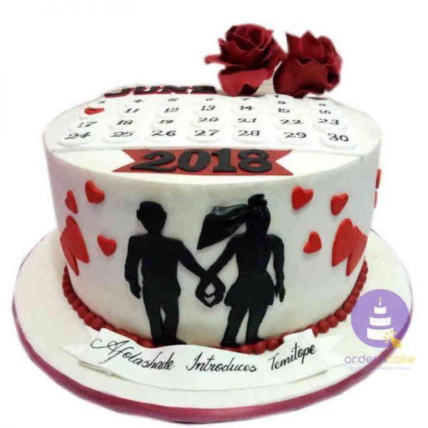 Valentine Calendar Cake