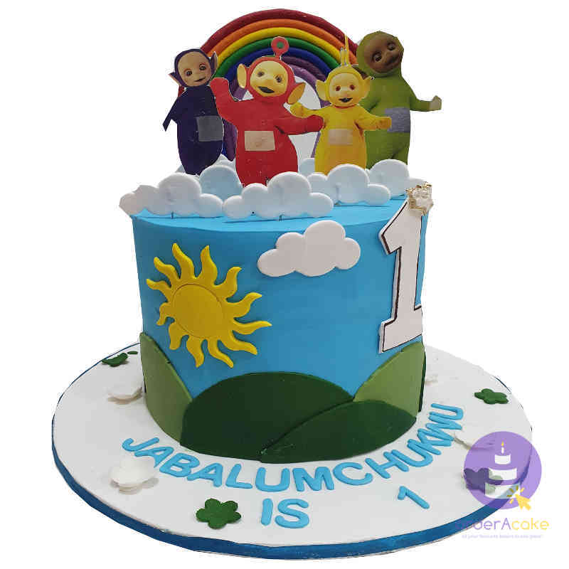 Admirable Teletubbies Fondant Cake Birthday Cakes In Abuja Orderacake Ng Birthday Cards Printable Nowaargucafe Filternl