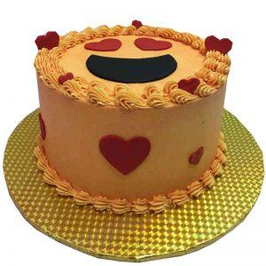 Lovestruck Emoji Cake