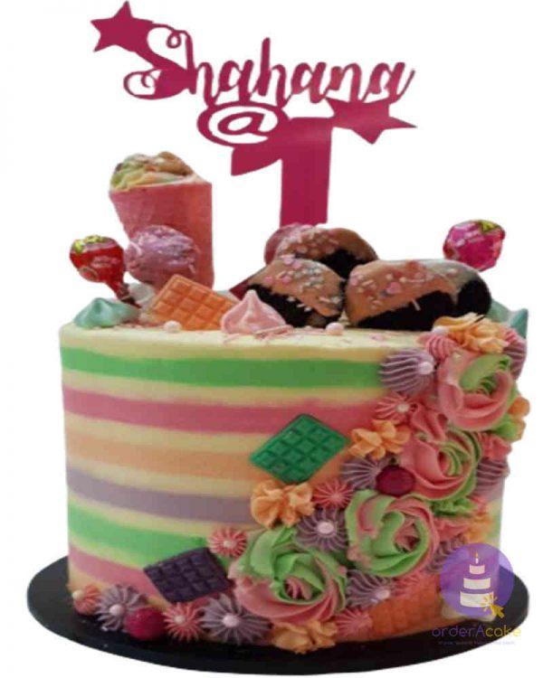 Candy Buttercream Cake