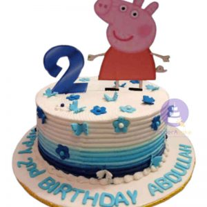 Blue Peppa Pig Buttercream Cake