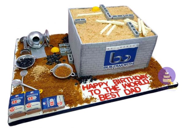 Dangote Cement Builder's Cake