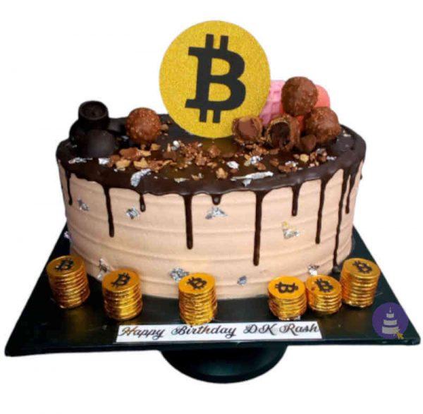 Bitcoin Buttercream Cake